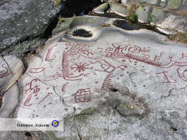 Hällristningar, Rock Carvings, Massleberg, Strömstad